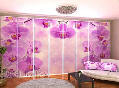 """Панельная фото штора """"Звездные Орхидеи"""" 480 х 240 см"""