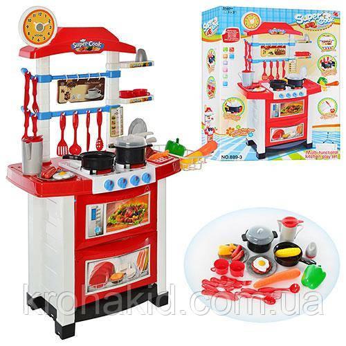 Кухня детская Super Cook 889-3 со световыми и звуковыми эффектами, размер 87-58-34 см