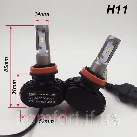 Светодиодные LED лампы для фар автомобиля S1-H11, фото 2