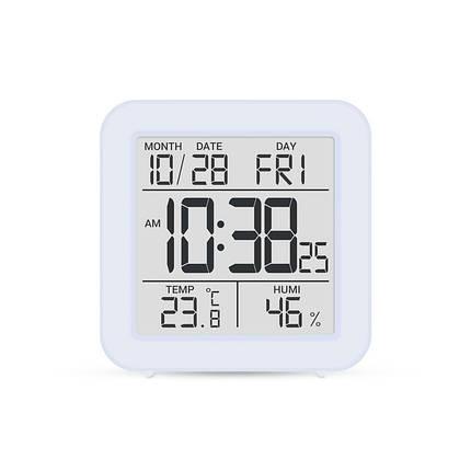 Цифровой комнатный термометр гигрометр термогигрометр электронный с подсветкой экрана Т-15 голубой, фото 2