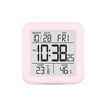 Цифровой комнатный термометр гигрометр термогигрометр электронный с подсветкой экрана Т-15 голубой, фото 3