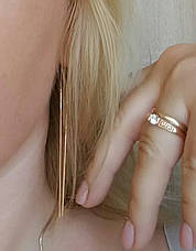 Длинные позолоченные серьги протяжки ювелирная бижутерия, фото 3