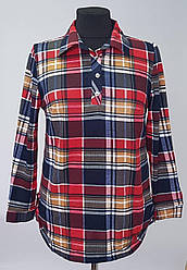 Женская теплая рубашка в клетку с 50 по 60 размер
