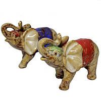Набор фигурок из керамики в подарок Слоны