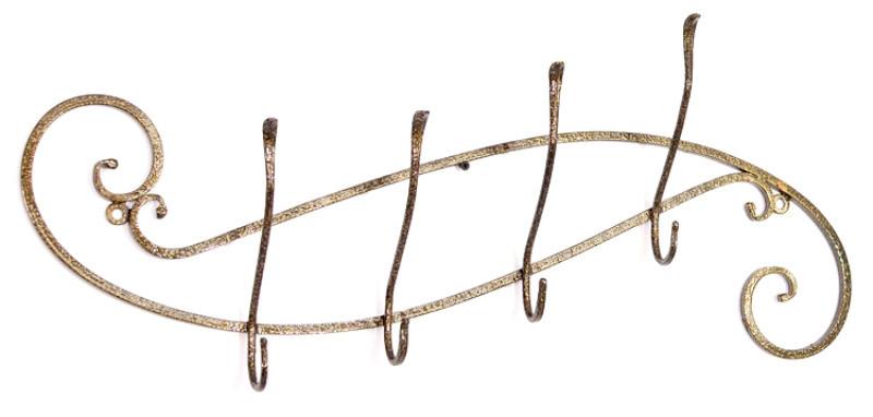 """Кованая настенная металлическая вешалка для одежды """"Верден"""" 70 х 22 х 10 см"""