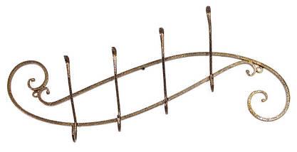 """Кованая настенная металлическая вешалка для одежды """"Верден"""" 70 х 22 х 10 см, фото 2"""