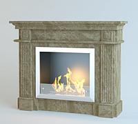 Каминный портал из мрамора Olimp Emperador Light, фото 1