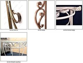 """Вешалка для одежды настенная кованая металлическая  """"Венеция"""" 76 х 25 х 35 см цвет антик золото, фото 2"""