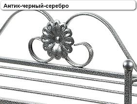 """Вешалка для одежды настенная кованая металлическая  """"Венеция"""" 76 х 25 х 35 см цвет антик золото, фото 3"""