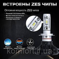 Светодиодные LED лампы для фар автомобиля X3-H4, фото 2