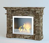 Каминный портал из мрамора Olimp Emperador Gold, фото 1