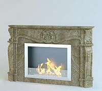 Каминный портал из мрамора Bovary Emperador Light, фото 1