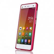 Чехол бампер металлический SK для Xiaomi Mi4 малиновый