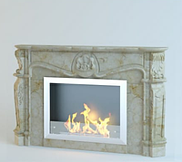 Каминный портал из мрамора Bovary Giallo Atlantida, фото 1