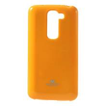 Чехол накладка силиконовый Mercury для LG G2 Mini D618 оранжевый