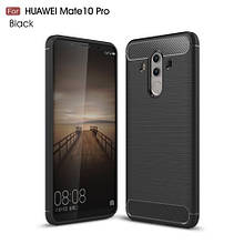 Чехол накладка TPU SK Fiber Carbon для Huawei Mate 10 Pro черный