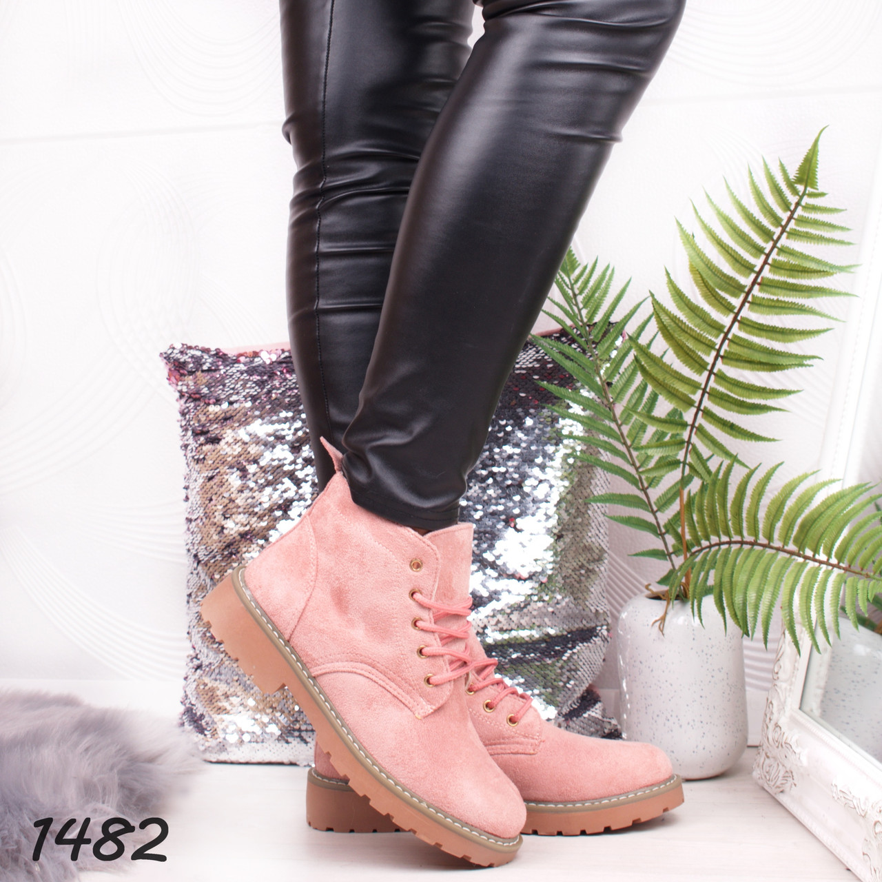 8403ce56 Женские зимние ботинки Timberland розовые ( Реплика) - купить по ...