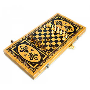 Нарды+шахматы из бамбука (50х25х4 см) (23862)