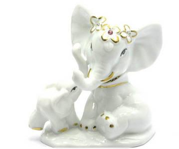 Слоны фарфор (10х9,5х5,5 см)