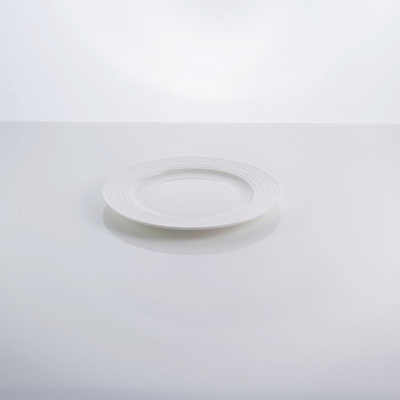 """Тарелка фарфоровая столовая белая 6,5"""" """"In wave"""" 16,5 см фарфор"""