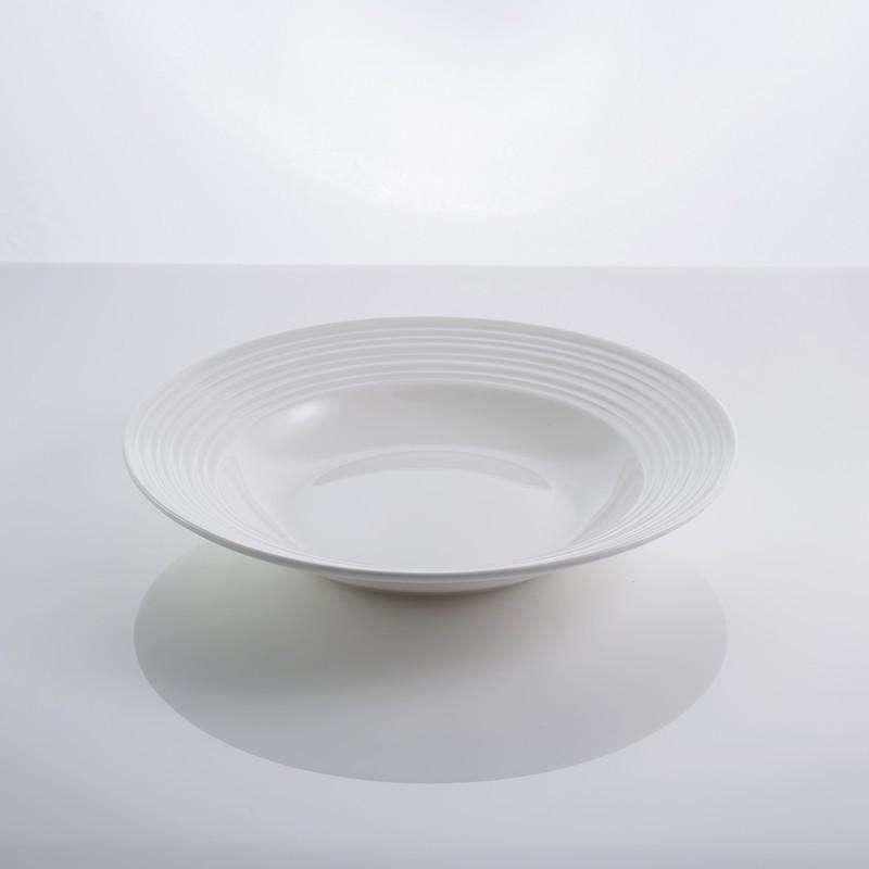 """Тарелка фарфоровая суповая белая 9"""" """"In wave"""" 22,5 см фарфор"""
