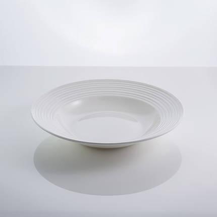 "Тарелка фарфоровая суповая белая 9"" ""In wave"" 22,5 см фарфор, фото 2"