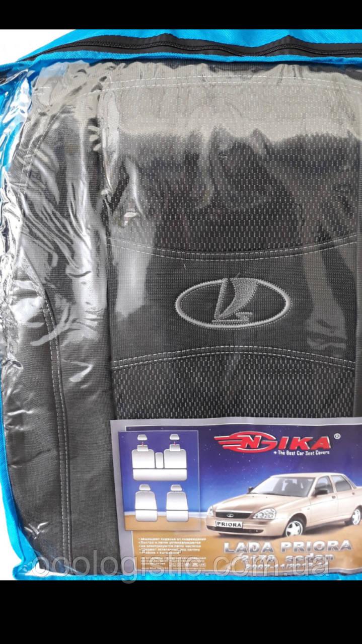 Авто чехлы Lada 2170 Priora 2007-2011 / 2012-2014 sedan Nika, фото 1