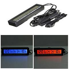 Годинник автомобільний ZIRY EC-88 час, дата, напруга, температура зовнішня/внутрішня