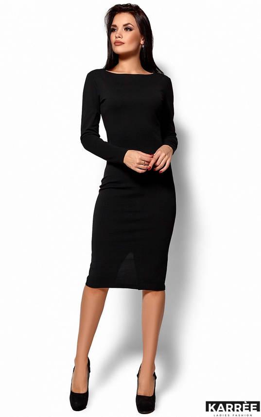 Облегающее платье с открытой спиной черное, фото 2