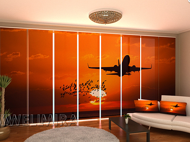 "Панельная фото штора ""Рейс"" 480 х 240 см"