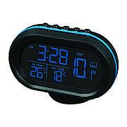 Автомобильный термометр вольтметр, часы VST-7009V + ПОДАРОК: Настенный Фонарик с регулятором BL-8772A
