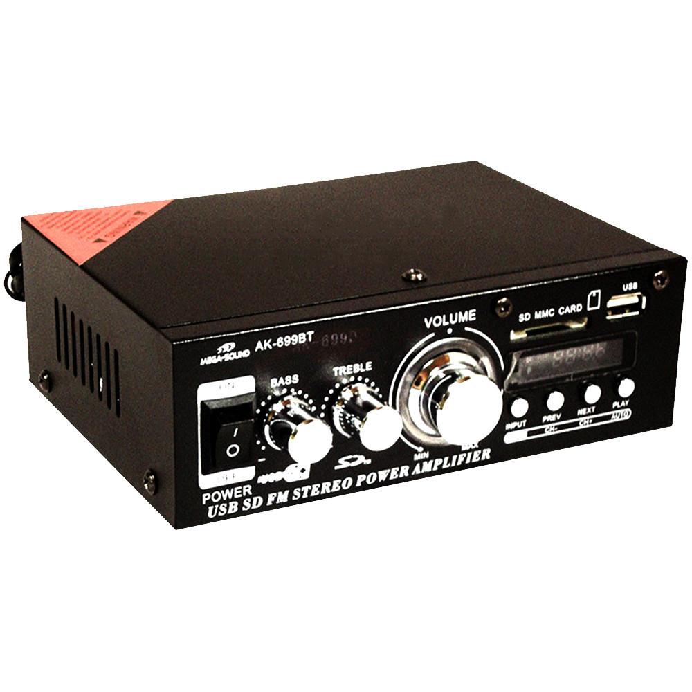 Усилитель звука MEGA-SOUND AK-699BT + ПОДАРОК: Настенный Фонарик с регулятором BL-8772A