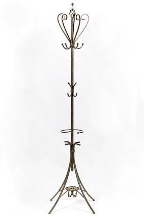 """Вешалка-стойка для одежды """"Париж"""" кованая металлическая 41 х 41 х 180 см, фото 2"""