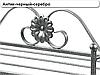 """Вешалка-стойка для одежды """"Париж"""" кованая металлическая 41 х 41 х 180 см, фото 4"""