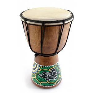 Барабан джембе расписной дерево с кожей (20х11.5х11.5 см) ( 30255)