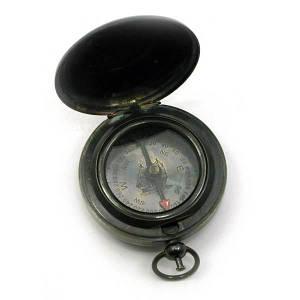 Компас карманный антик бронза (6,5х5х1,5 см) ( 28234)