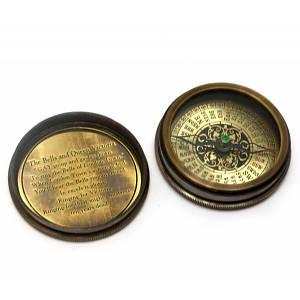 """Компас морской бронзовый """"Victorian pocket compas""""(d-6,h-2 см) ( 29275)"""
