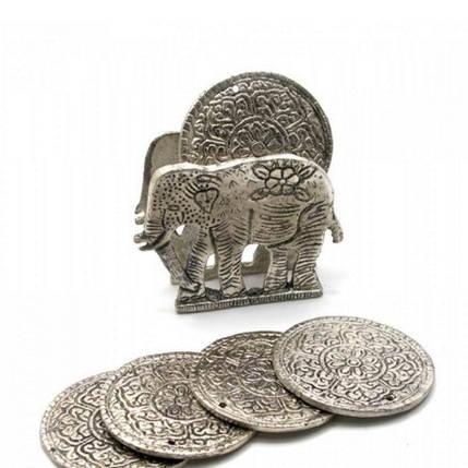 """Подстаканники """"Слон """" (н-р 6 шт) металл (10,5х8,5х4 см)(Непал), фото 2"""