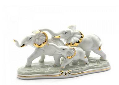 Слоны 3 шт фарфор (16,5х7х6,5 см)