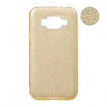Чехол накладка силиконовый Remax Glitter для Xiaomi Redmi Note 5 5 Pro золотистый