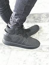 Мужские кроссовки  реплика ADIDAS Tubular цвет черный