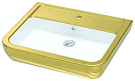 Раковина Idevit Halley 3201-0455-1101 декор золото