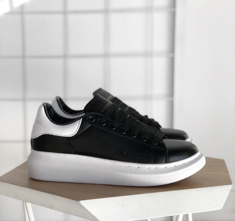Женские кроссовки Adidas Alexander McQueen Oversized Sneaker black white NEW.  Живое фото (Реплика ААА eb8863f275b05