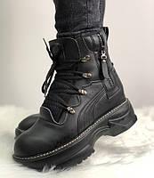 Женские ботинки Puma Fenty by RIHANNA Sneakers Black. Живое фото. Топ  качество (Реплика 0af3fbcb772b9