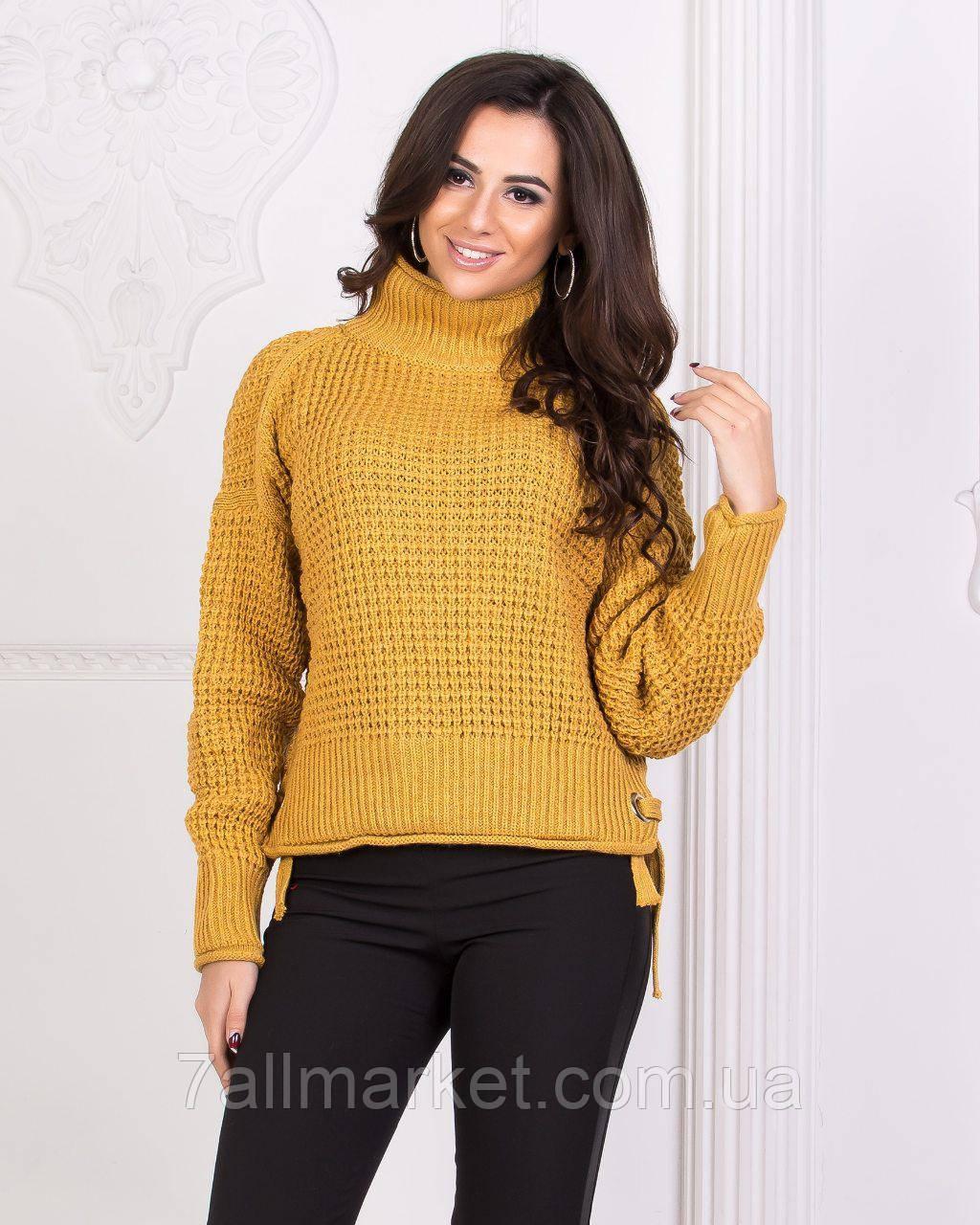 свитер женский вязаный под горло размер 42 46 3цв Lara купить