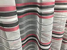 Тюль Полоска Серый 5800/10, 3 метра, фото 2