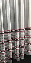 Тюль Полоска Серый 5800/10, 3 метра, фото 3