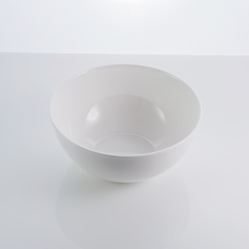 "Тарелка фарфоровая салатная белая 6"" ""Rim"" 700 мл фарфор"