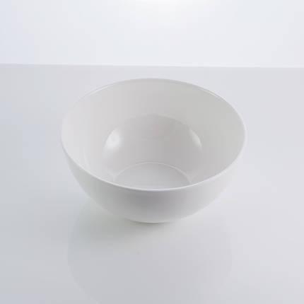 "Тарелка фарфоровая салатная белая 6"" ""Rim"" 700 мл фарфор, фото 2"