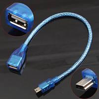 Переходник кабель mini USB male папа - USB A А мама female 10 см cable 5 pin adapter